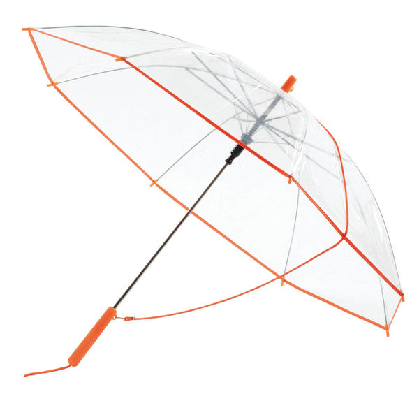 Achat parapluie publicitaire Transparent Orange
