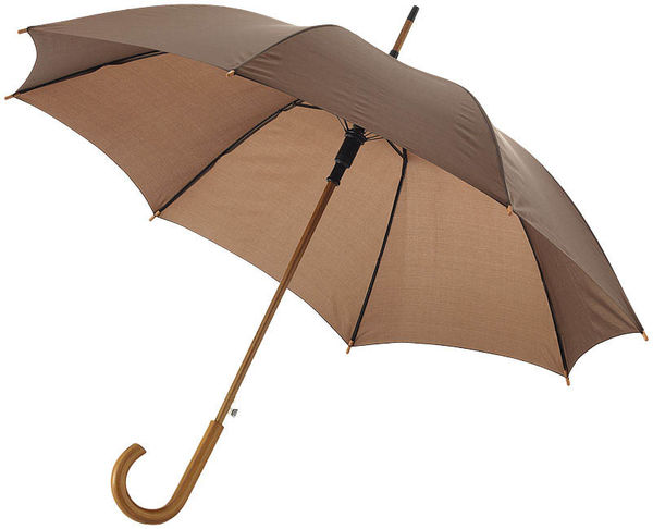 Parapluie Automatique Canne Personnalise Marron