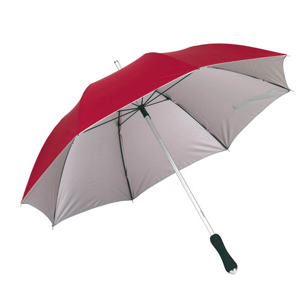 Parapluie bi color Rouge Argente
