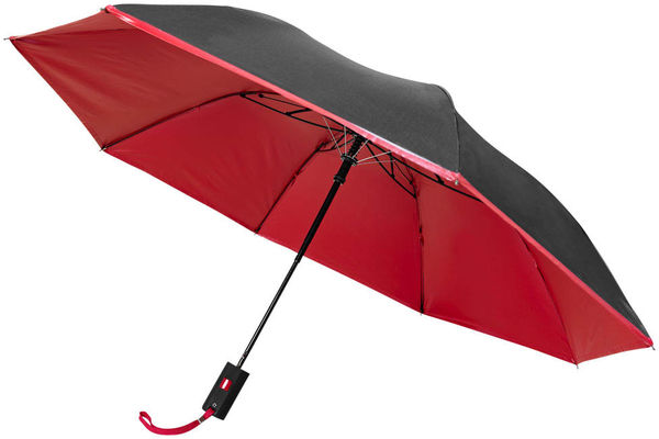 Parapluie De Poche Automatique Promotionnel Noir Rouge