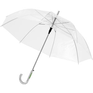 Parapluie Automatique Transparent Personnalise Blanc
